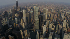 Aerial View Trump Tower Chicago, USA Arkistovideo