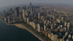 Aerial Skyline, Waterfront, Chicago, USA Stock Footage