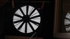 Blower Door ventilator Stock Footage