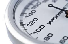 points of sphygmomanometer - stock photo