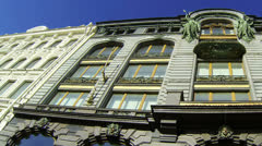 The book house in St.-Petersburg. Zinger House. Stock Footage