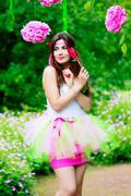 Summer girl portrait. beautiful girl.  sweet candy girl Stock Photos
