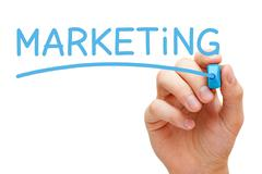 Stock Illustration of marketing blue marker