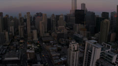 Aerial View Downtown Financial District Chicago, USA Stock Footage