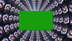 12 euro tube green screen Stock Footage