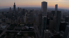 Aerial skyline view Chicago skyscrapers Chicago, USA Stock Footage