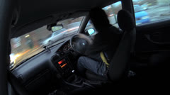 Car Interior Gopro POV Driving Time Lapse - City, Drive Sped Up HD Stock Footage