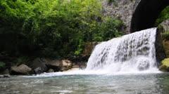 waterfall loibl - stock footage