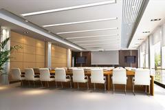 3d meeting room - stock illustration