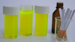Urine test - stock footage