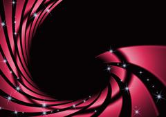 Abstract swirl red with dark background Stock Illustration