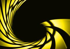 Abstract swirl yellow with dark background Stock Illustration