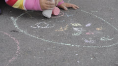Street chalk - stock footage