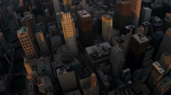 Aerial overhead view Chicago city skyscrapers, USA - stock footage
