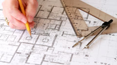 architectural plan - stock footage