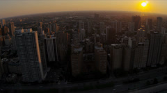 Aerial sunset view Lake Shore Drive, Chicago, USA - stock footage