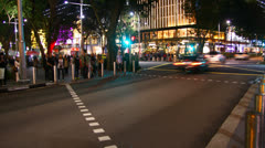HD timelapse of People in downtown shopping, Orchard Singapore Stock Footage