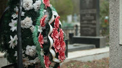 Grave At The Cemetery Stock Footage