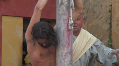 Christ flagellation slow motion 01 Stock Footage