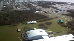 Heavy flooding natural disaster aerial - stock footage