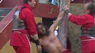 Christ flagellation slow motion 03 Stock Footage