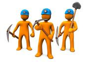 Mining men Stock Illustration