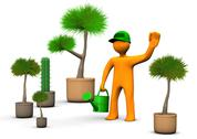 Stock Illustration of gardener with plants