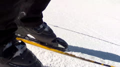 low shot of skiing - stock footage