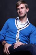 Portrait of young good looking male model Stock Photos