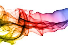 gradient colored pattern - abstract puff - stock photo