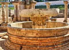 Cloister ruins of santa clara velha Stock Photos