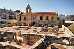 monastery of santa clara velha - stock photo