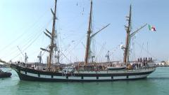 Foremast of a large sailing vessel Stock Footage