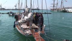 "Sailing ship ""la Palinuro"" Stock Footage"