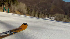 skiing from different camera angles - stock footage