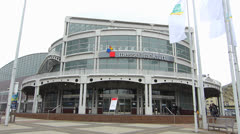 Messe Frankfurt Congress center Frankfurt am Main Germany Stock Footage
