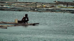Lake boatman Stock Footage