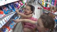 Stock Video Footage of children in supermarket