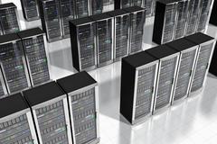 Network palvelimet datacenter Kuvituskuvat