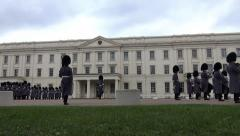 LONDON - CIRCA 2013: Change of guards at the Buckingham palace circa 2013 Stock Footage