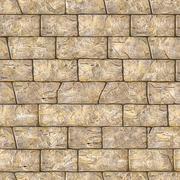 Seamless Texture of Brown Decorative Bricks Wall. Stock Photos