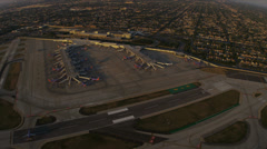 Aerial overhead view Midway International Airport, Chicago, USA Stock Footage