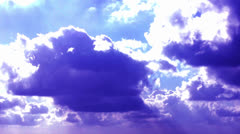 Clouds with contrast colors Stock Footage