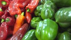 Colorful peppers Stock Footage