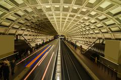 Smithsonian metro station in washington dc Stock Photos
