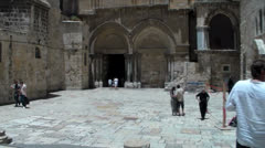 Church of the Holy Sepulchre Stock Footage