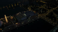Aerial Sunset View Navy Pier, Chicago, USA Stock Footage