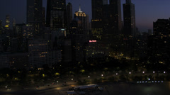 Aerial illuminated view Lake Shore Drive, Chicago, USA - stock footage