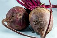 Two beetroots over white background Stock Photos