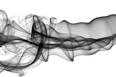 pattern - abstract puff of smoke over the white background - stock photo